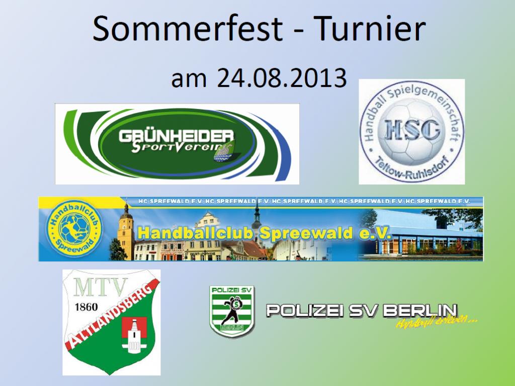 Sommerfest Turnier am 24.08.2013