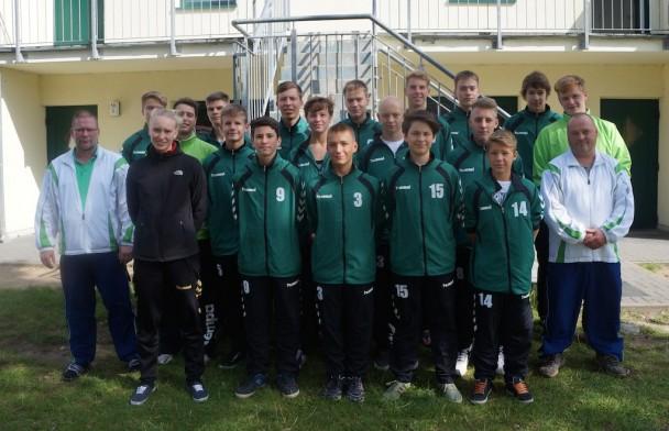 Grünheider B-Jugend im Trainingslager