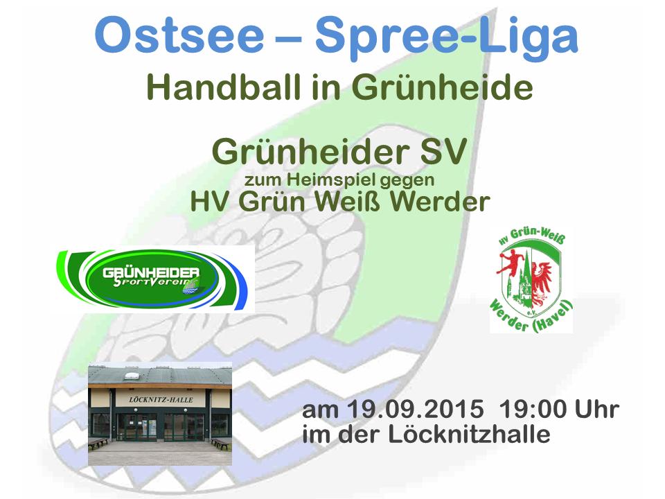 Heimspiel Grünheide gegen Werder 19.09.2015
