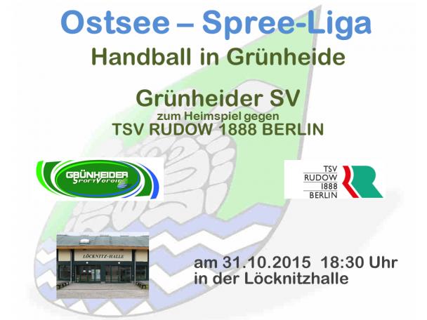 Handball Grünheide_Heimspiel_TSV Rudow 31.10.2015