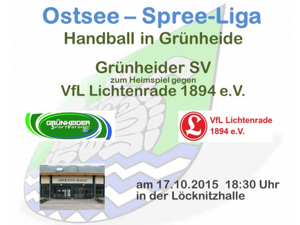 Handball Grünheide_Heimspiel_VfL Lichtenrade 17.10.2015