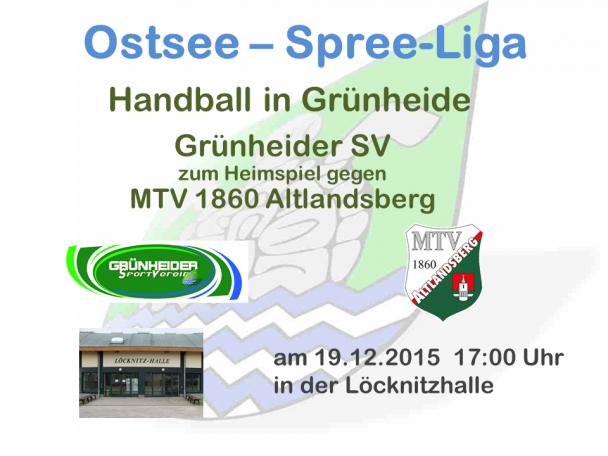 Handball Grünheide_Heimspiel_MTV Altlandsberg 19.12.2015_17.00