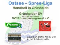 Handball Grünheide_Heim gegen SV63_23.01.2016_18.30