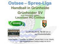 Handball Grünheide_Heim gegen LHC Cottbus 09.04.2016_18.30
