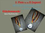 2. Platz in der Bestenermittlung Land Brandenburg