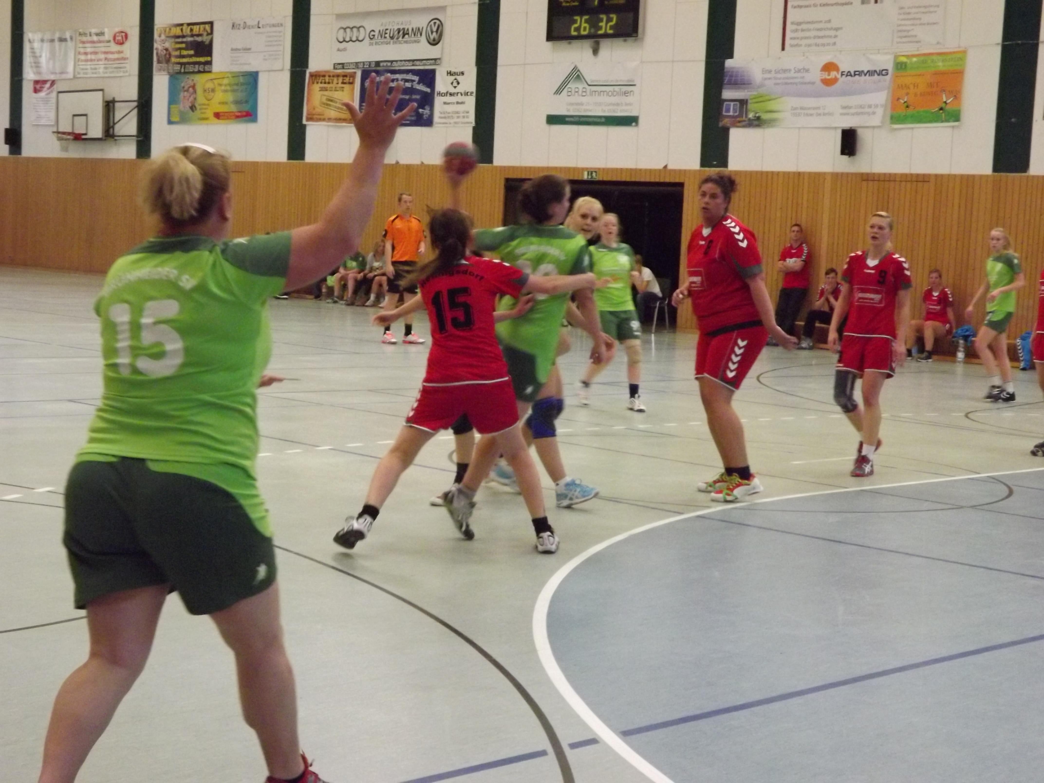 Pokalrundenaus für Grünheider Frauen