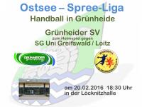 Auf zum Heimspiel gegen SG Uni Greifswald / Loitz