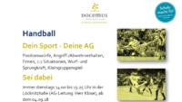 In Sachen Handball für Docemus Schüler (m/w)