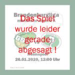 Absage: Das Rückspiel in der männlichen Jugend A gegen Finsterwalde