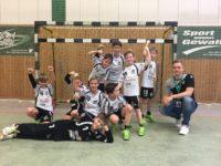 Die männliche E-Jugend zieht mit einem 31:9 Sieg gegen Altlandsberg ins Pokalfinale ein